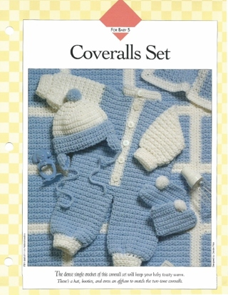 Coveralls Set Crochet Pattern Baby Boy