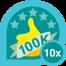 100k club 10x