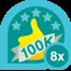 100k club 8x
