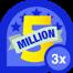 5m club 3x