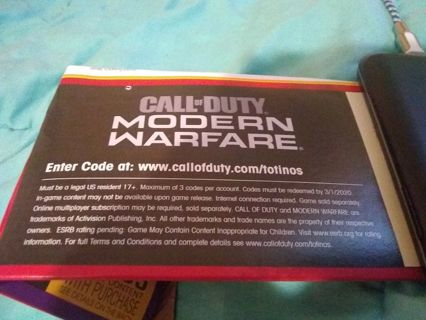 Call of duty modern warfare code