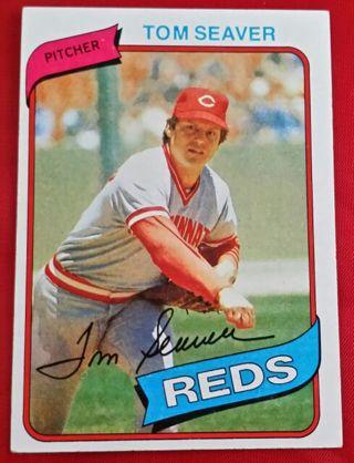 1980 Topps Tom Seaver Card 500 Cincinnati Reds New York Mets