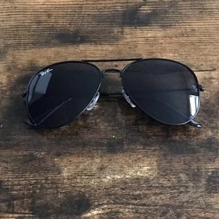 New Rayban Black Aviator Sunglasses