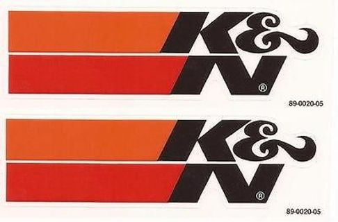 4 K & N Performance Racing Filters Stickers / Decals Black & White