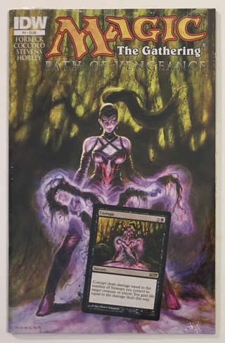 Magic The Gathering #4 Path Of Vengeance NM 9.4 IDW Comic Book With Corrupt Promo Card - Sealed!