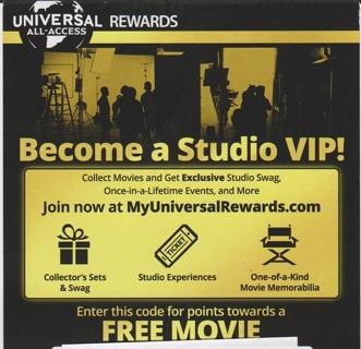 Movie reward code