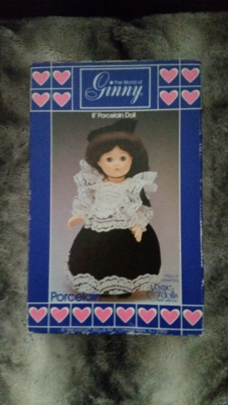 "VINTAGE COLLECTIBLE GINNY VOGUE 8"" PORCELAIN DOLL IN ORIGINAL BOX CIRCA 1984"