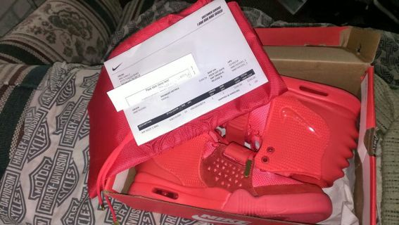 huge discount 26680 34a3b FREE Nike Air Yeezy 2 Red October size 10 Brand New with original receipt