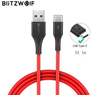 BlitzWolf 2 in 1 3A USB Type-C Fast Charging Data Cable 3ft/0.9m For Oneplus 6 For Xiaomi Mi8 Mix