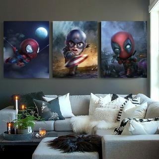 5D diy diamond painting Avengers Cute Deadpool Iron Captain Thor Hero Home Decor