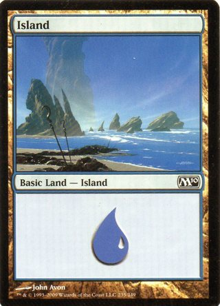 Magic The Gathering Card 1 Island