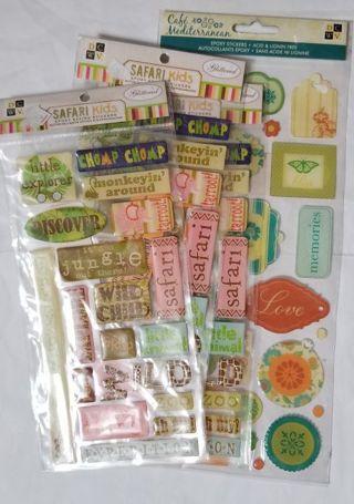 Scrapbook Epoxy Stickers