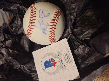 Don Baylor autograph baseball Beckett certified California Angels