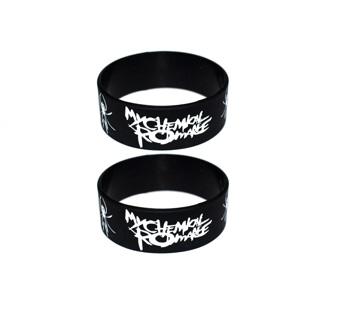 my chemical romance band bracelets wristbands punk rock emo goth metal biker free