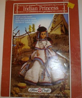Free Indian Princess Crochet Pattern Doll Dress Fibre Craft
