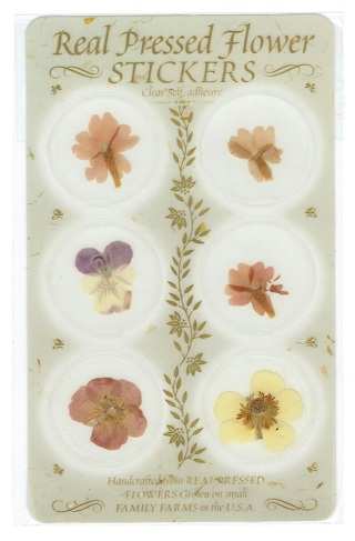 pressed flower stickers