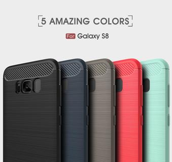 Shockproof Brushed TPU Case Cover For Samsung Galaxy A3 A5 A7 2017 / A6 A8 2018