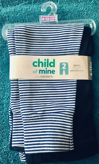 New 2 pair of baby pants Carters Free Shipping
