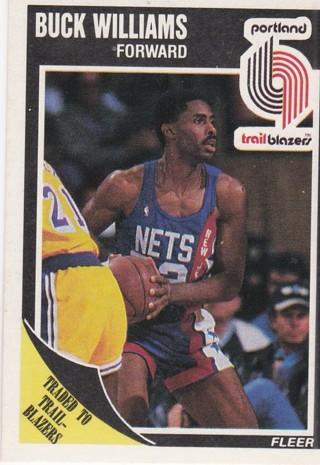 1989 Fleer Trailblazers Buck Williams