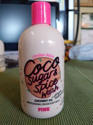 Victoria Secret Pink, coco sugar and spice body wash