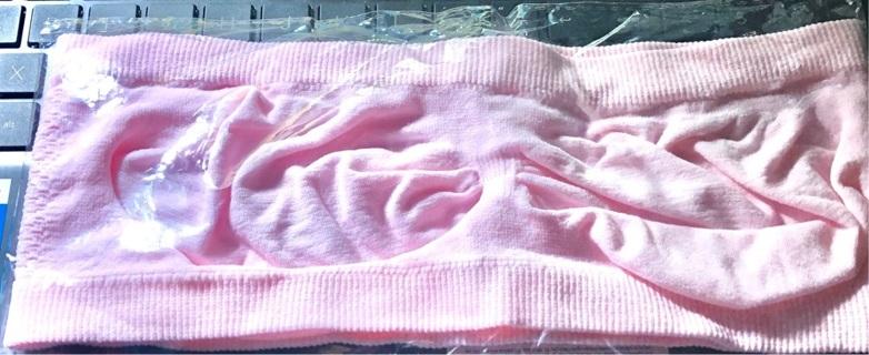 BNIP Sz 1XL, Pink, Strapless, Breathable, Crop Top / Bra. Wireless, Pullover. Nylon, Spandex