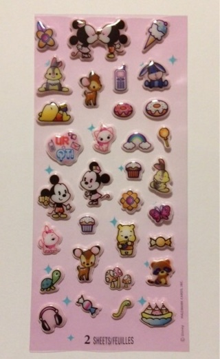 Kawaii puffy Disney sticker sheet