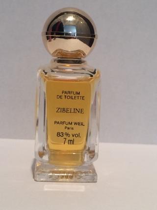 ZIBELINE  PARFUM DE TOILETTE  PARFUM WEIL 83% vol. 7ml