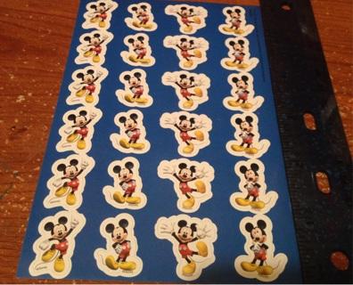 Mickey Mouse sticker sheet