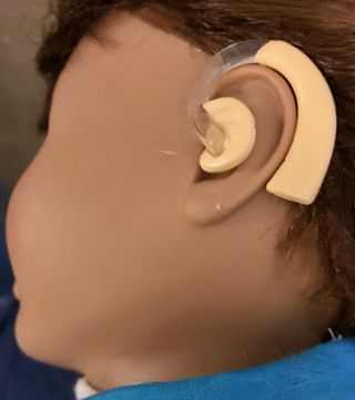NEW - toy HEARING AIDS for MY LIFE AS DOLL or similar (American Girl, Our Generation)