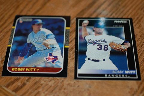 et of 2 Texas Rangers Bobby Witt Baseball Cards