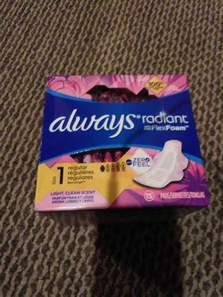 Always radiant pads with flex foam