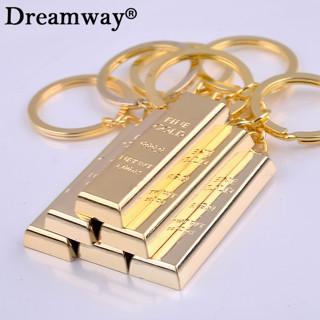 Pure gold key chain golden keychains keyrings women handbag charms pendant metal key