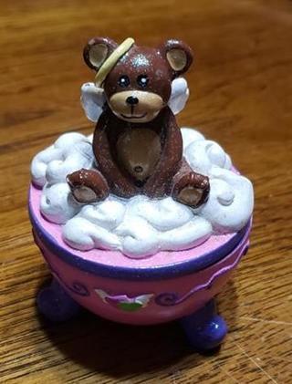*Angel Teddy #4 2006 Claire's Trinket Box
