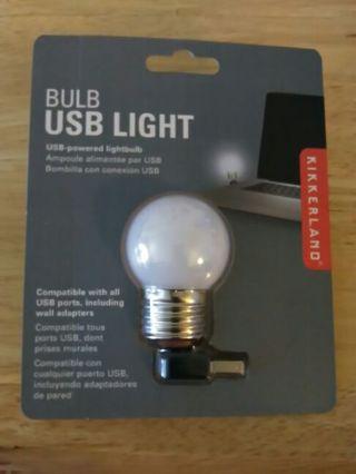 New Kikkerland USB Powered Light Bulb
