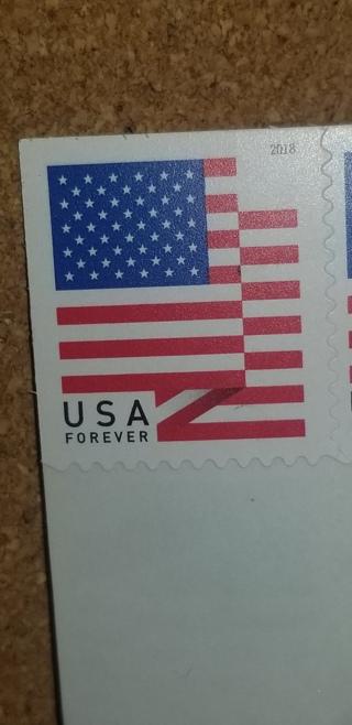 ONE U.S. Forever Stamp (2018 design)