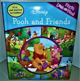 "Disney Pooh and Friends Look & Find book for toddlers - 18 board pages - size 10"" x 12"" - 28 oz."