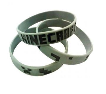 NEW Minecraft Game Wristband Bracelet silicone video game jewelry gin