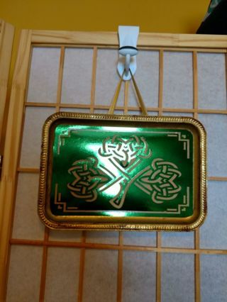 Celtic Knot Shamrock Plaque Hand Crafted