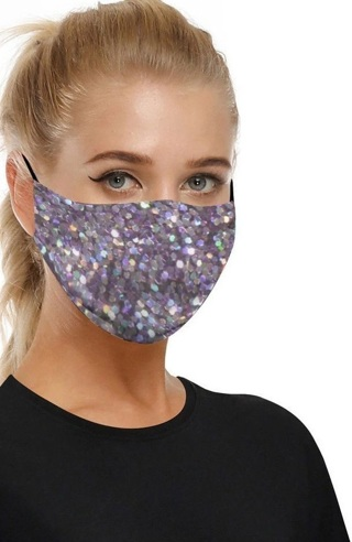NEW Purple Color Art Print Face Mask Fashion Mouth Cover FREE SHIPPING