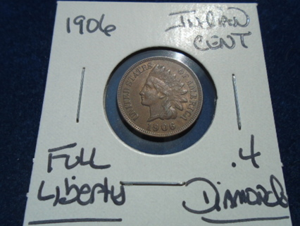 XF+ 1906 INDIAN HEAD PENNY XF+ CONDITION!