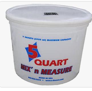 Encore Plastics 61086 Mix 'N Measure Plastic Container, 5-Quart
