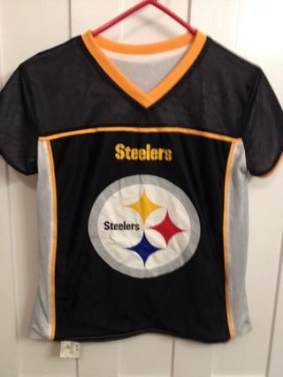 1e9542b58 FREE  Reversible Steelers Official NFL Flag Football Jersey- Size Medium  Youth