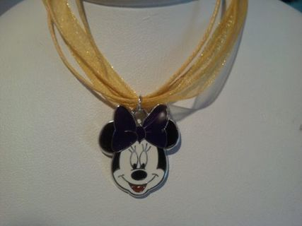 ~BRAND NEW MINNIE MOUSE NECKLACE~17 INCH VOILE with LOBSTER CLASP~