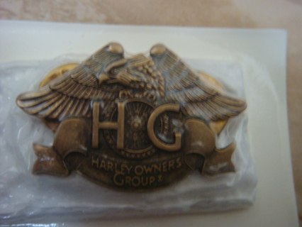 Harley-Davidson HOG pin, brass - authentic, official