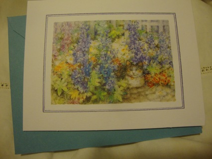 """""""Cat in the Flowers"""" Blank Note Card ~ Free Shipping"""