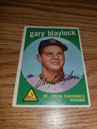 1959 Topps Baseball Gary Blaylock #539 St Louis Cardinals,EX cond,High #,Free Shipping!