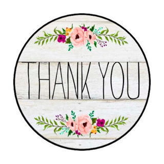 """48 """"THANK YOU"""" Color Country Rustic STICKERS ENVELOPE/PACKAGE SEALS LABELS ~ 1.2"""" round"""