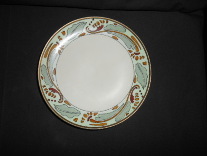 ART DECO HAND PAINTED PLATE