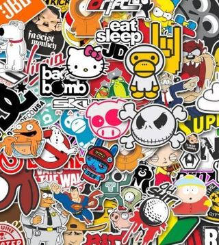 004 NEW Stickers *Luck of The Draw* (4) NEW Random Pop Culture Stickers Art Music Movies Fashion