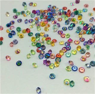 500PCs Mix AB Crystal Birthstones Floating Charm For Glass Living Memory Locket